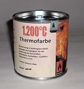 ofenlack 1200 c thermofarbe ofenfarbe thermolack schwarz matt 125ml ad ideen baumarkt. Black Bedroom Furniture Sets. Home Design Ideas