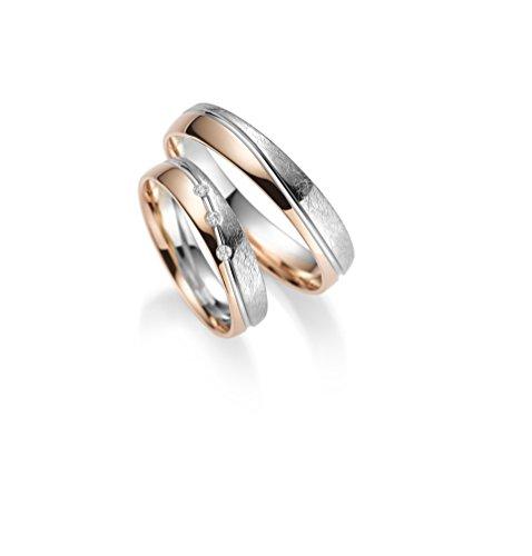 RJ 333 Gold Trauringe - Rubin Juwelier - inkl 3 Steine + Gravur