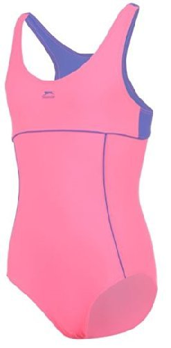 14-15 Jahre Slazenger Mädchen Badeanzug in der Farbe : pink/blau