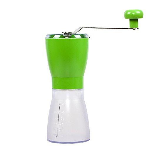 KLXEB Die Reinigung Mit Wasser Mühle Haushalt Hand Kaffeebohne Schleifmaschine Kleine Hand Kaffee Mühle Pulverisierer, Grün