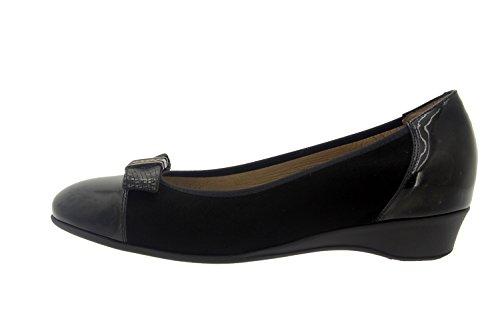 Chaussure femme confort en cuir Piesanto 7722 basse casual comfortables amples Noir