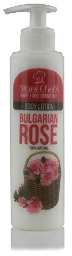 100% Pure Natural Body Lotion for Women with Bulgarian Rose Oil, Almond Oil, Jojoba Oil, and Shea Butter. For Dry and Sensitive Skin. Cruelty, Chemical, and Paraben Free, 250 ml. -