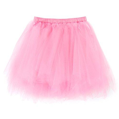 b6193b9bf4b11 JACKY-Store Women s Pleated Gauze Short Skirt Plus Size Girls High Waisted  Tutu Dancing Mini Skirt For Women (Pink) - Buy Online in Oman.