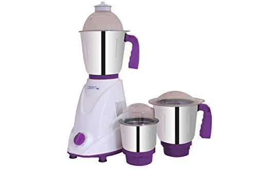 AISEN® 500-Watt Mixer Grinder With 3 Stainless Steel Jar_A50MGP500 (Purple)