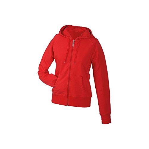Veste femme stretch avec capuche rouge