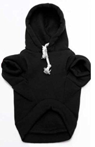 Doggie Style Store Black Security Guard Dog Cat Puppy Kitten Hoody Hooded Jumper Hoodie Top – 7 Sizes 2