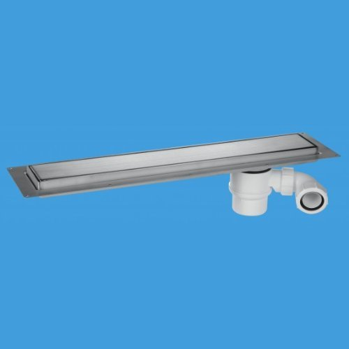 Preisvergleich Produktbild McAlpine CD600-B Brushed Stainless Steel Linear Shower Drain Suitable For Tiled Floors by Mcalpine