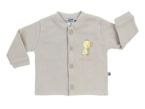 Gestickt Interlock (Jacky Unisex Interlock-Jacke für Babys, Niedliches Entchen-Motiv, Größe: 44, Alter: ab der Geburt, Beige, 290056)