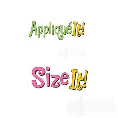 Amazing Designs Aufnäher It. und Größe IT. Stickerei Maschine Software Combo & Stabilisator Bundle (Stickerei-buchstaben-software)