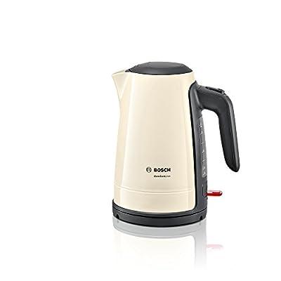 Bosch twk6a017Comfort Line Bouilloire (2400W, 1,7L, Fonction de 1tasses), crème/Black Grey