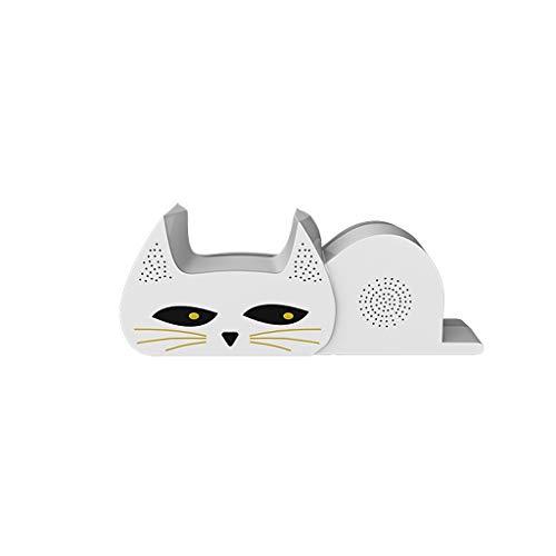 BingWS Effiziente Mausefalle Ultraschall-Hochleistungs-Hauptelektronische Mausefalle Artefakt Anti-Maus Nemesis Elektronische Katze Mousetrap Jagdzubehör (Color : White)