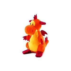 Trudi 51148 Dragón de Juguete Naranja Juguete de Peluche - Juguetes de Peluche (Dragón de Juguete, Naranja, 90 mm)