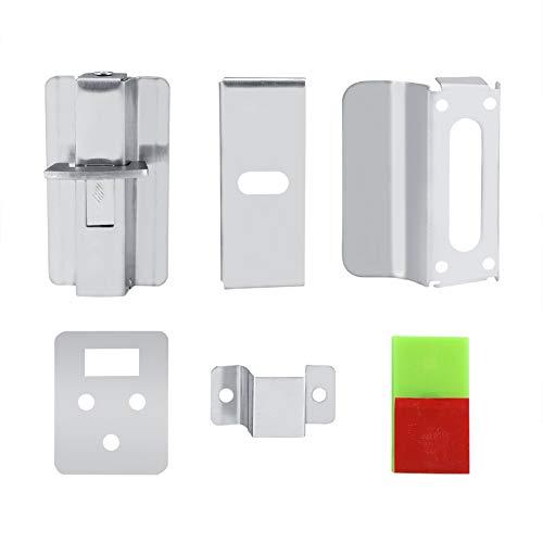 TOPINCN WC Indiaction Lock Edelstahl-Sicherheitsschraube Frei Eingebundene Anzeige Badezimmer Öffentliche Toilette WC Trennwand Türschloss