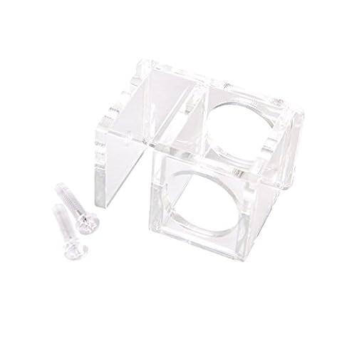 25mmTube Clip Pince Acrylique Fixation Support Aquarium Citerne Tuyau d'eau Rond