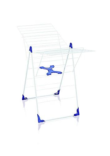 Leifheit Classic 200 Flex Tendedero de Pie, Revestimiento Plástico, Azul y Blanco, 102x5x60.5 cm