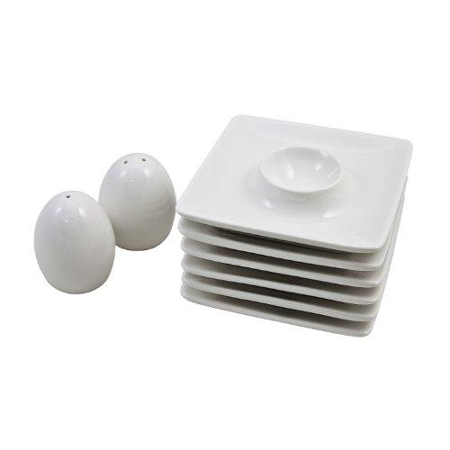 Retsch Arzberg Coquetier, Porcelaine, Weiß, Variante (8-teiliges Set)