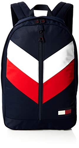 Tommy Hilfiger Herren Tommy Backpack Chevron Rucksack, Blau (Corporate), 16x46x30 cm -