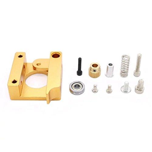 Goliton 1pc MK8 extrudeur bloc d'extrusion en aluminium kit de bricolage Makerbot d¨¦di¨¦ buse unique t¨ºte d'extrusion bloc en aluminium droite main