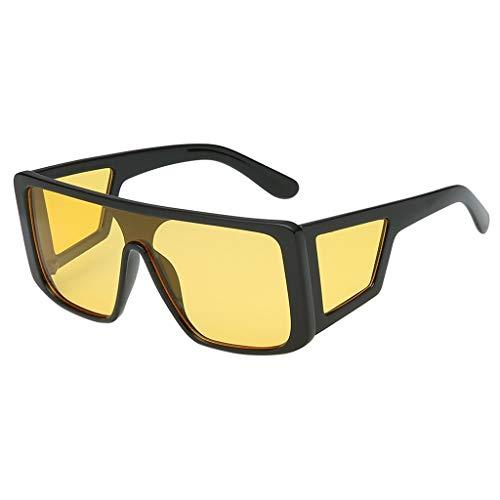 Honestyi Damenmode Maske Sonnenbrille Integrierte Gläser mit quadratischer Breite Modische Persönlichkeit, einteilige quadratische