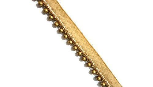 Golden Kleine Perlen Trim latkan Trim Goldenen latkan Trim Perlen Trim Sari Border Schal dupatta border-price für 01yard-idl270 -
