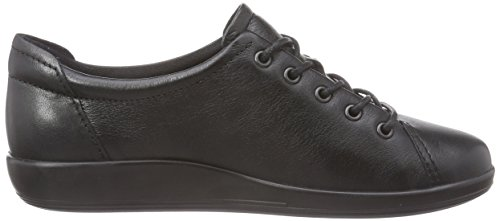 Ecco  ECCO SOFT 2.0, Derby femme Noir (56723Black With Black Sole)