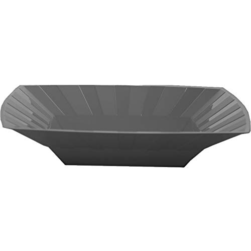 Schalen und Teller aus Kunststoff, quadratisch, 10 Stück, silber, 8