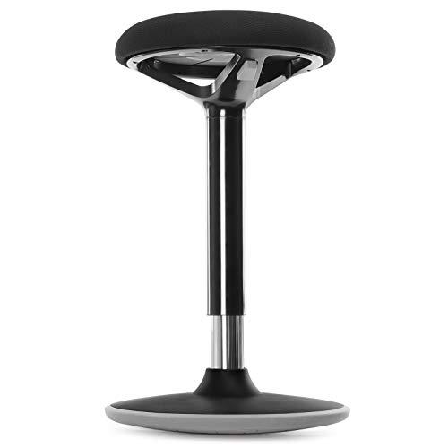 SONGMICS Bürohocker, ergonomischer Arbeitshocker, Sitzhocker, 360° Drehstuhl, höhenverstellbar 55-70 cm, Keine Montage erforderlich, fürs Büro und Arbeitszimmer, schwarz OSC04BK