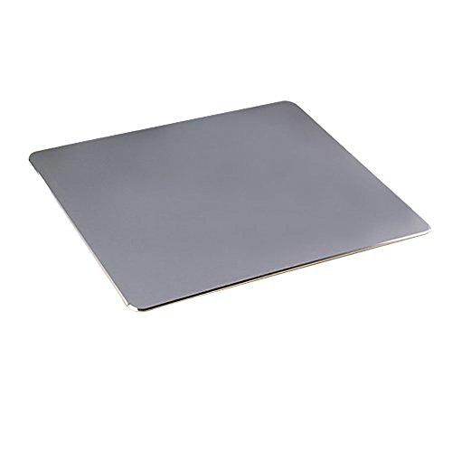 gboat Gaming Aluminium Mouse Pad Wasserdicht rutschfestem Gummi Boden Schnelle und genaue Move Präzise Kontrolle grau grau Sleek Slip