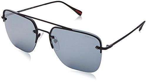 Prada Sport Herren 0PS54SS DG05L0 59 Sonnenbrille, Schwarz Rubber/Grey Black