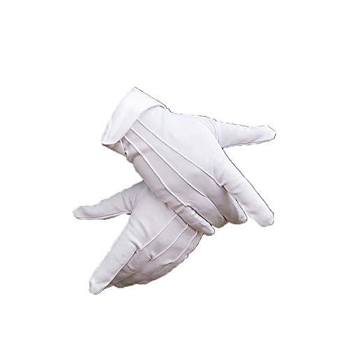 ECOLOG Dacron Baumwollhandschuhe, formelles Kostüm für Polizei, Honor Guard Parade, Damen, Herren, Mädchen, Fahrersicherheit, Empfang, Etiquette, Versicherung, Schmuck, Inspektion, 4 ()
