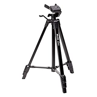 SLIK U883 3-stage Aluminum Leg Tripod with 3-Way Panhead, Geared Center Column, Bubble Level, Quick Shoe Release, Carrying Case, 4.4lb Capacity - Black