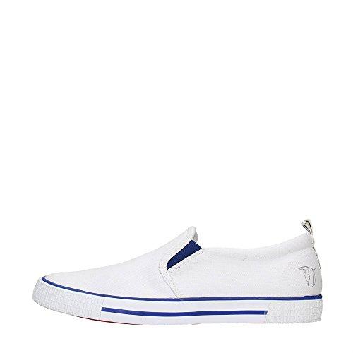 Trussardi Jeans 77S519 Azzurro, Blu e Marrone Mocassini Uomo Scarpa Sportiva White