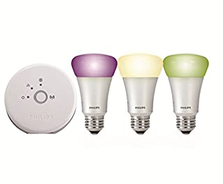 Philips 3 x E27 9W LED Hue Kit de démarrage de 3 ampoules LED connectées Hue + Pont de connexion Culot E27 Pilotable via smartphone (B00IG18C9G) | Amazon price tracker / tracking, Amazon price history charts, Amazon price watches, Amazon price drop alerts