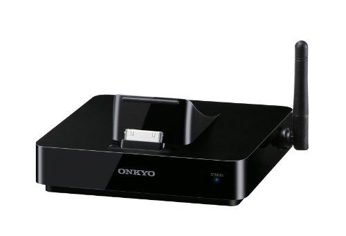 Onkyo DS-A5 Dockingstation per Apple iPod/iPhone/iPad (AirPlay, Ladefunktion, Composite Video, Nero