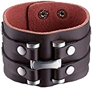 Yellow Chimes Casual Wraps Cuff for Men (Brown) (MXFJBR-164B-BR)