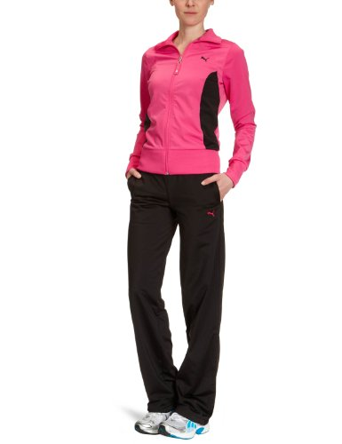 Puma Damen Trainingsanzug Poly, Open, raspberry rose-black, XS, 819211 07 Preisvergleich