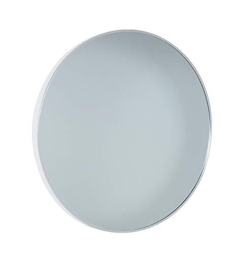 LC Home Wandspiegel Spiegel Silber rund Ø 60 cm modernes Alu Design Flurspiegel Badspiegel Badezimmerspiegel