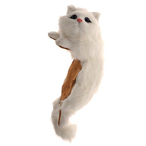 Hängende Katze Plüschtier Kuscheltier Spielzeug Stofftier Kinder Weinachten Geschenke - Weiß, Abmessungen (L x B x H): ca. 31 x 13 x 15 cm