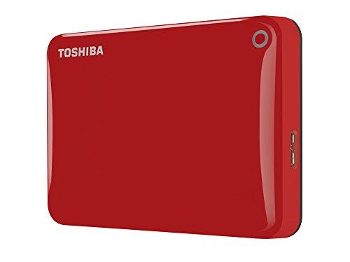 """Toshiba Canvio Connect II - Disco duro externo de 1 TB (USB 3.0, 6,35 cm (2.5"""")), rojo"""