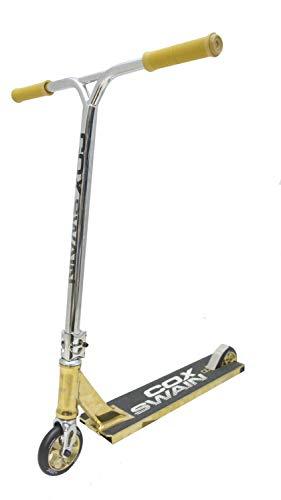 Cox Swain Stunt Scooter The 88 Wide Deck 120mm Rollen - ABEC9 Lager- ALU Kern Rollen Super Quality! - Gold/Gold