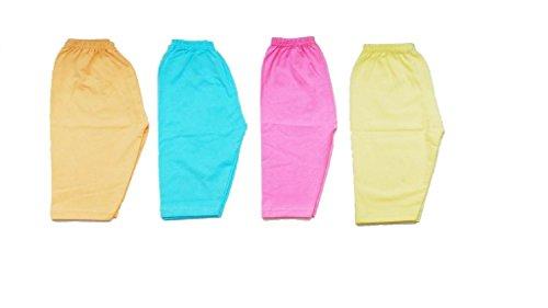 Pack of 4,Multicolor (0-6 Months) Mama's Baby New Just Born Multi Plain Full Long Length Pant/Leggings/track/pyjama,Hosiery Cotton