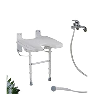 Klappbarer Premium Duschstuhl für die Wandmontage/Platzsparender Duschklappsitz