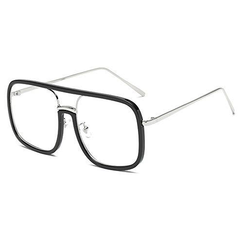 Brillen Sonnenbrillen Männer und Frauen Europa und Amerika Mode Persönlichkeit Sonnenbrillen Straßenmode flache Brillen schwarzer Rahmen flacher Spiegel