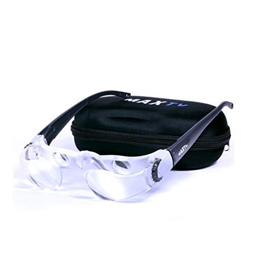 MAGF Brillen-Lupen-Angel-Teleskop, 2X tragbare Handlupe for ältere Menschen Lesen, Angeln, Schmuck Identifizierung, Uhrmacher, Hobbys, Bastellupen (Size : Without Coated Lens)