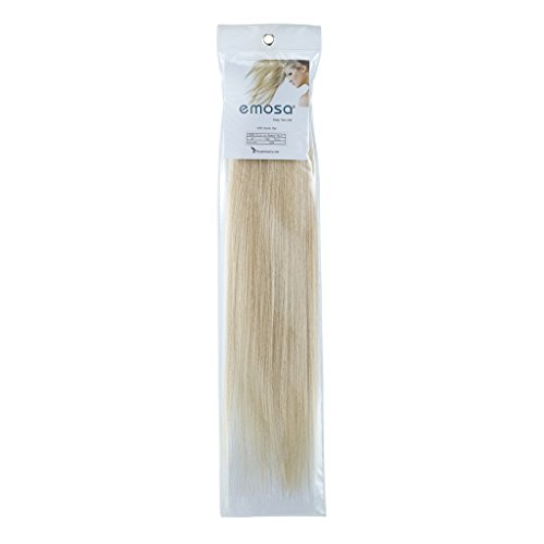 Emosa 8Pcs 90g Full Head Clip In Silky Soft Remy Real Human Hair Extensions #60 Light Blonde Silky Soft (Human Extension Grammy Hair)
