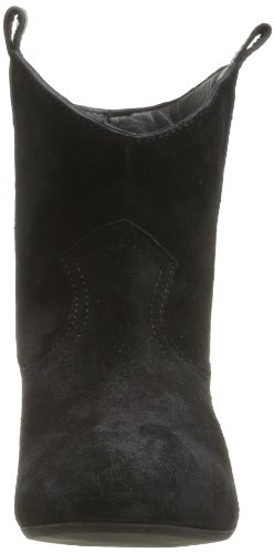 Pieces Ishara Leather, Boots femme Noir (Black)