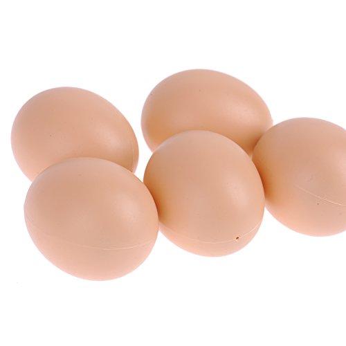 Fake Eier, 5Stück Hühner Coop Schnuller Henne Geflügel Ei DIY Zubehör