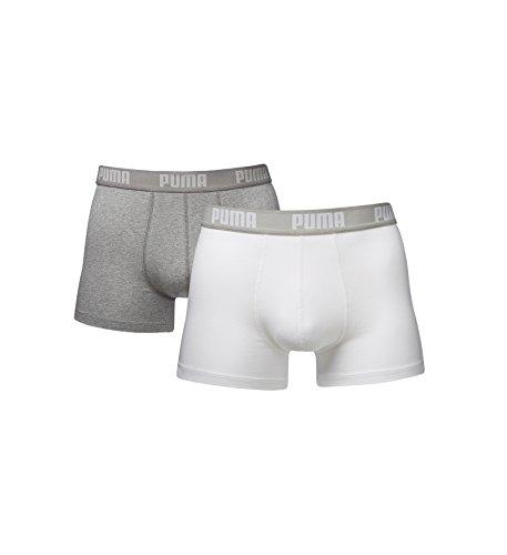 Preisvergleich Produktbild PUMA 4er Pack Boxershorts Pant Boxer Trunk weiß schwarz mix S M L XL WOW NEU ! / Weiß, M