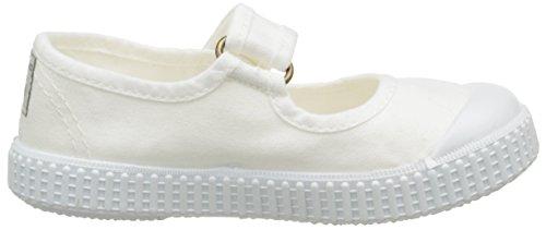 Victoria - Mercedes Velcro Lona Tintada, Sneaker Unisex – Bambini Bianco (20 Bianco)