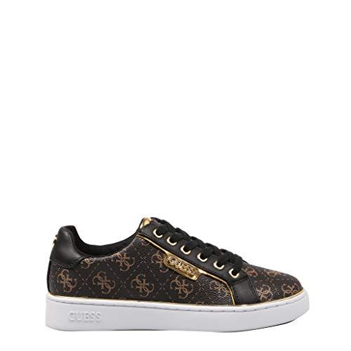 Guess Damen BRBLK Sneaker Größe 39 EU Braun (braun) (Guess Jeans Gold)